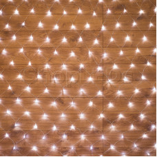 Гирлянда - сеть 1,5х1,5м, прозрачный ПВХ, 150 LED Белые