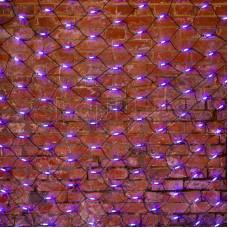 Гирлянда - сеть 2x1,5м, черный КАУЧУК, 288 LED Белые/Синие