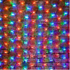 Гирлянда - сеть 2x3м, черный КАУЧУК, 432 LED Мультиколор