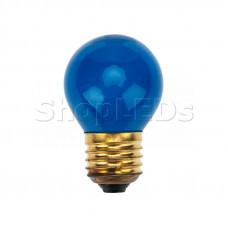 Лампа накаливания e27 10 Вт синяя колба