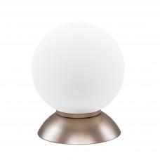 813913 (MT5092-1GL) Настольная лампа GLOBO 1х40W E14 champaine/white (в комплекте)