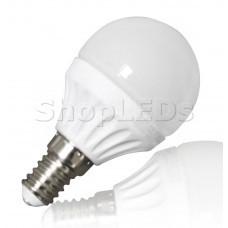 Светодиодная лампа YJ-G45-6W (220V, E14, 6W, 450 lm, шар) (дневной белый 4000K)