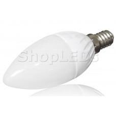 Светодиодная лампа YJ-C37-6W (220V, E14, 6W, 450 lm, свеча) (теплый белый 3000K)